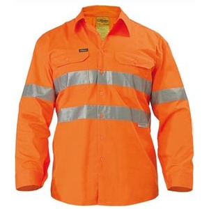 Cool Lightweight Gusset Cuff Hi Vis Shirt 3M Tape