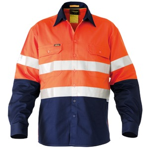 3M Taped Hi Vis Industrial Cool Vent 2 Tone Shirt