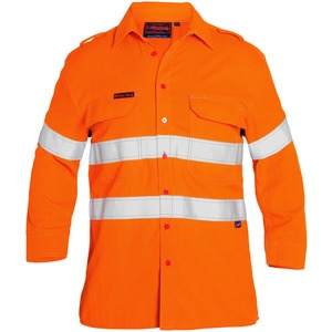 Hi Vis Taped Flame Resistant Vented Shirt L/S