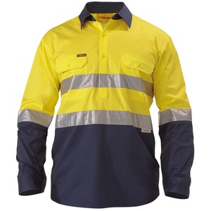 2 Tone Hi Vis Cool Lightweight Closed Front Shirt