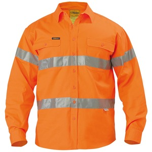 Hi Vis Drill Shirt - 3M Reflective Tape - Long Sle