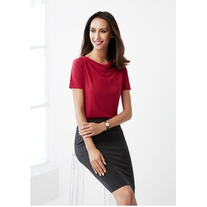 Ava Ladies Drape Knit Top
