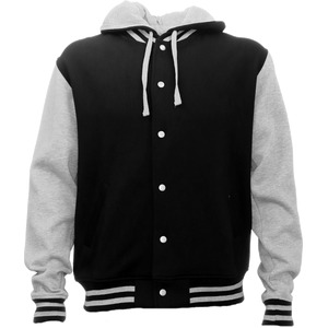 Hooded Letterman Jacket