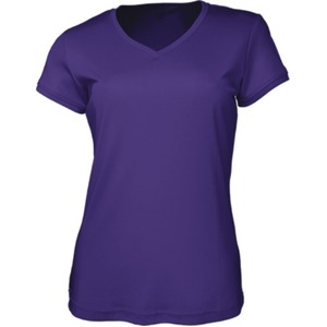 Ladies Brushed V-Neck Tee Shirt