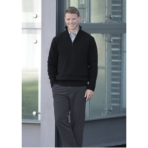 Lambswool Zip Pullover - Mens