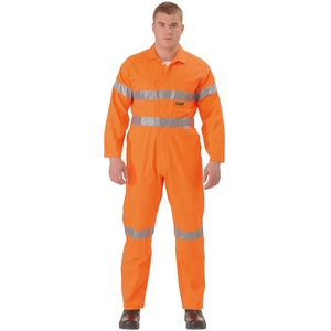Hi Vis Lightweight Coveralls With Nylon Press Stud