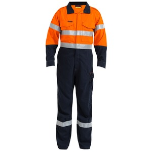 2 Tone Hi Vis Flame Resistant Taped Vented Coverall