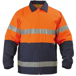 2 Tone Hi Vis Drill Jacket - 3M Reflective Tape